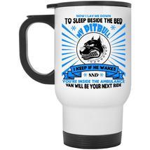 Now I Lay Me Down To Sleep Beside The Bed My Pitbull Cup, Dogs Mug (Travel Mug) - $26.99