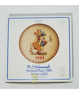 M.J. Hummel Annual Plate 1984 In Bas-Relief Original Box - $12.39
