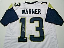 KURT WARNER / NFL HALL OF FAME / AUTOGRAPHED ST LOUIS RAMS CUSTOM JERSEY / COA