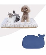 Pet Feeding Mat and Reversible Cat Bed Super Soft Plush Pet Crate Bed - $85.37