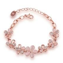 "Elegant 925 Sterling Silver Rose Flower New Fashion Jewelry 7.5"" Charm B... - $9.79"