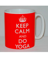Keep Calm And Do Yoga Mug Can Personalise Great Health Fitness Pilates G... - $11.64