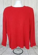 Calvin Klein Red Sweater, Pullover Hook Loop Closure Shoulder Men's XL  - $24.74