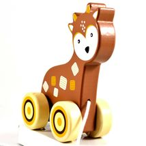 Applesauce Deer Baby Wooden Pull Toy for Toddlers Children Ages 12+ Month image 7