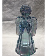 """Fenton Blue Iridescent Glass Angel 6"""" in Perfect Condition - $10.00"""