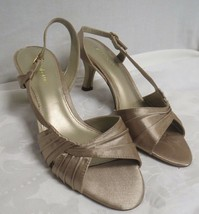 Liz Claiborne Strappy Heels 7.5 W Champagne Colored - $24.37
