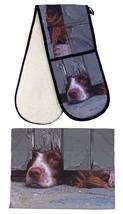 neugierig Spaniel Hund 100% Baumwolle 88x18cm Doppel Topfhandschuh & 55x... - $46.49