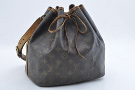 LOUIS VUITTON Monogram Petit Noe Shoulder Bag M42226 LV Auth 8099 - $190.00