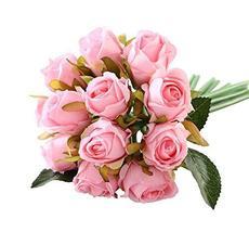 Koala Superstore 12 Heads Artificial Flowers Bridal Bouquet Home Wedding Party D - $18.04