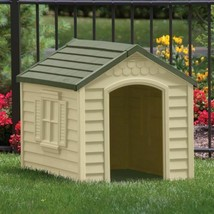 Dog House Outdoor Water Resistant Easy To Assemble Pets Up To 70 Pounds New - $112.19