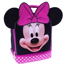 Disney Minnie Mouse Insulated School Dual Lunch Bag, Pink Cute - $13.71 CAD