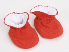 Red Baby Booties Size 0-9 Monoths - $10.00