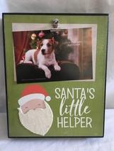 Christmas Santa Little Helper Holiday Decor Wall Decoration Sign/Plaque - $20.15