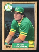 2 Card Lot - 1987 Topps Jose Canseco Card #620 - NM-MINT - Oakland Athle... - $1.39