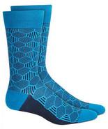 Mens Dress Socks Geometric Blue Alfani Alfatech 1 Pair $10 - NWT - $3.95