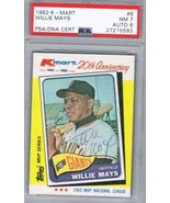 1982 Kmart #8 Willie Mays PSA 7 / 6 Auto  - $197.95