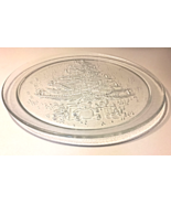 CLEAR GLASS CHRISTMAS TREE CAKE PLATE HOLIDAY TABLEWARE - $8.00