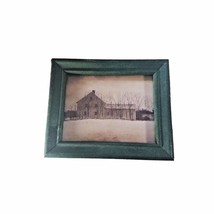 Rare mini antique photograph of an old homestead by BASCO Transworld cou... - $45.53
