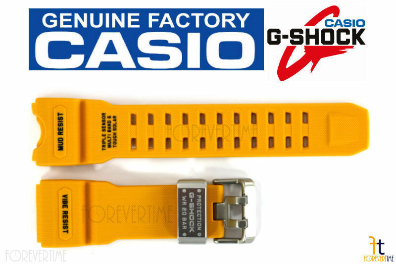 CASIO G-SHOCK Mudmaster GWG-1000-1A9 Original Yellow Rubber Watch Band Strap