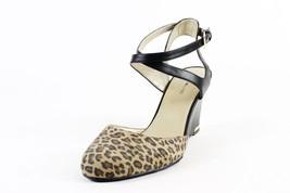Bandolino Black Leopard Tania Wedge Sandals - $48.59
