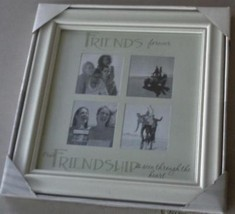 Friends Forever Four Opening Photo Frame - BEAUTIFUL WOOD FINISH - BRAND... - $24.74