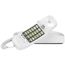 AT&T ATTML210W Corded Trimline Phone with Lighted Keypad (White) - $33.92