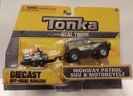 Tonka Diecast Highway Patrol SUV & Bike - $18.99