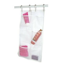 Mesh Bathroom Shower Organizer Hanging 6 Pocket Hanger Storage Caddy Wit... - $8.79