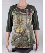 Under Armour women's realtree camo pullover fitted shirt hunting top siz... - $21.51