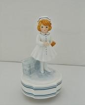 Schmid - Nurse Music Box – A Spoon Full Of Sugar Song – Hand Painted - Porcelain - $19.13