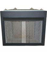 """Mesh Hanging Fireplace Screen 2 x Mesh Curtains 21"""" x 48"""" wide with pull handles - $59.95"""