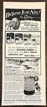 ORIGINAL 1940 MacMillan Ring-Free Motor Oil PRINT AD Ripley's Believe It... - $11.69