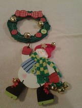 "2003 Collectible Avon ""Snowman Door Jingler"" Made From Wood & Bells - Nib - $6.92"