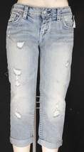 NWT silver jeans co. AIKO Denim Capri Light Wash Mid Rise Slim Hip Woman... - $22.50