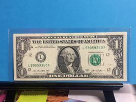 (L 5905 9950 F) Trinary $1.00 Bill - $13.50