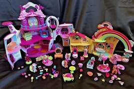 My Little Pony Ponyville Rainbow Dash's, Birthday Afternoon & Teapot Palace LOT - $60.00