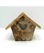 Birch Home Made Birdhouse Planter, House Plants, Garden - $13.85