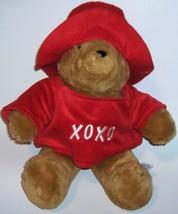 PADDINGTON BEAR  Red Hat & Shirt    Plush Stuffed Animal - $16.00