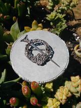 Vintage ornate celtic brooch pin kilt irish scottish  celt triquerta knot sword  - $378.00