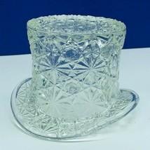 Fenton art glass top hat daisy button toothpick holder hobnail vtg opale... - $28.86