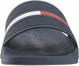 Men's Tommy Hilfiger Designer Logo Slippers Navy Blue Ennis Slide Sandals image 4