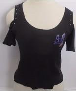 Vintage Womens Sturgis Black Hills Run Off the Shoulder T Shirt Biker L/XL - $24.74