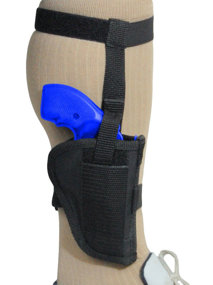 Primary image for Barsony Gun Concealment Ankle Holster for Charter Arms 22 327 38 357 Snub 2""