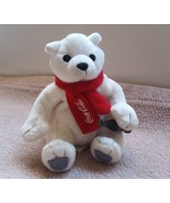 "Coca-Cola Plush Polar Bear with Red Scarf & Coke Bottle - 4"" H, pre-owne... - $13.06"