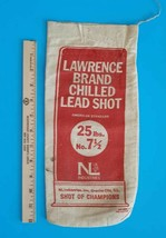 Vintage - Lawrence Brand Chilled Lead Shot  25 lbs  No. 7 1/2  Empty Can... - $14.50
