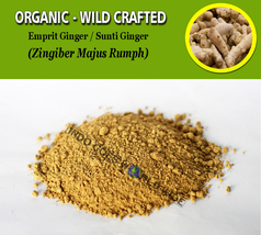 POWDER Emprit Ginger Sunti Ginger Zingiber Majus Rumph Organic WIld Crafted - $16.80+
