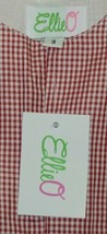 Ellie O Gingham Full Lined Cotton Polyester Blend Longall Size 3 Color Red image 2