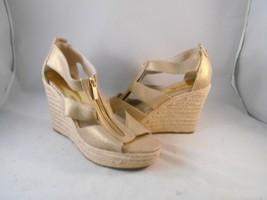 Michael by Michael Kors Golden Brown Espadrille Wedges Heels Front Zip S... - $49.49