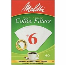 Melitta #6 Cone Coffee Filters, White, 40 Count (14 Packs) - $49.50