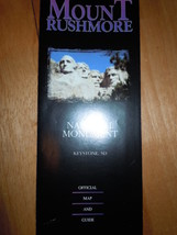 Mount Rushmore National Monument Keyston South Dakota Map Travel Brochure - $3.99
